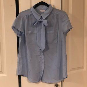 New York & Company Short Sleeve Blouse